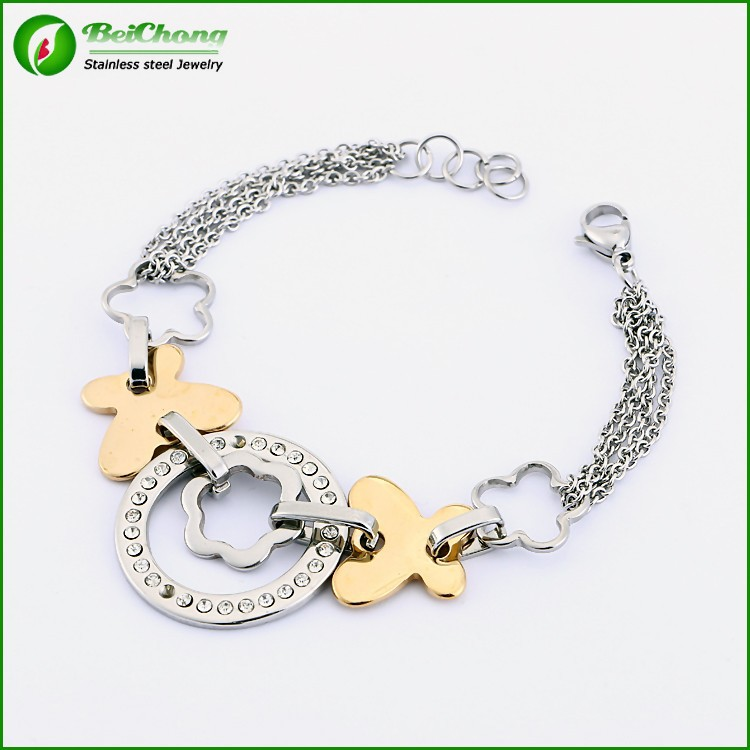 Fashion high quality with diamond heavy stainless steel peruvian bracelet