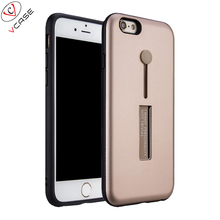 Tpu PC Two in One Case for iphone 6, Ultrathin Ring Phone Transparent Soft Silicone Case for iphone 6
