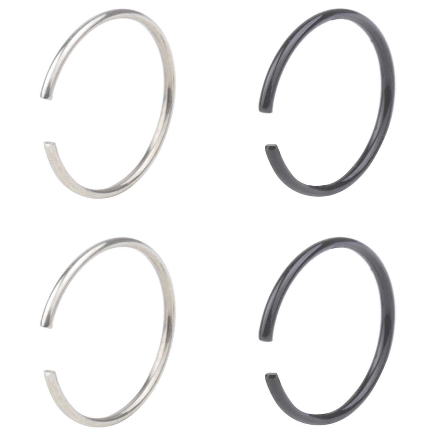 Surgical Steel Nose Hoop Omni Bead Ring Anchor Daith Ear Cartilage 16G