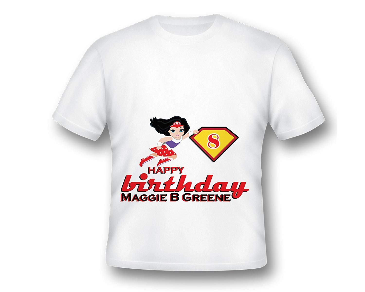 Personalize Super Hero Girl Tee Shirt Fun Custom
