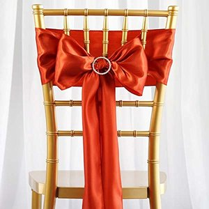 Polyester ribbon bow satin chair sashes wedding decoration