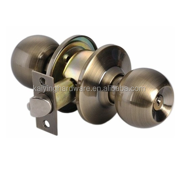 Cylindrical Knob Door Locks Main Entrance Privacy Bathroom Bedroom Antique  Brass Door Cylinder Knob Lock,