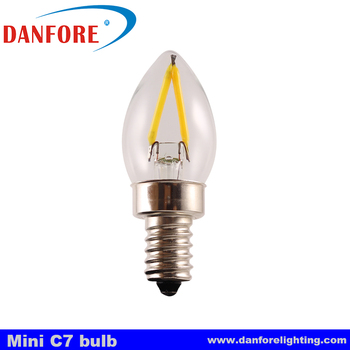 C7 Led Bulb >> 1 Watt Filament Led C7 Mini Led Bulb With E14 E12 Candelabra Base