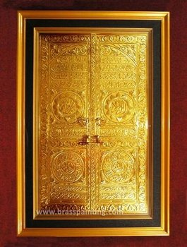 Islamic Craft The Door of Kaaba Brass Painting & Islamic Craft: The Door Of Kaaba Brass Painting - Buy Handmade Brass ...
