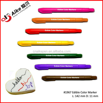 Gourment Edible Food Coloring Marker Pen For Food Decorating - Buy Food  Decorating Pens,Food Color Markers,Edible Food Pen Product on Alibaba.com