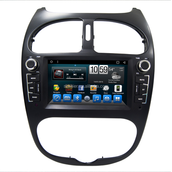 Top Quality Android Dashboard Car dvd Navigation for Peugeot 206 with Reversing Camera MP3 Player Touch Screen Bluetooth
