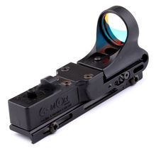 <span class=keywords><strong>C</strong></span>-MORE Optik Holographic Reflex Red Dot Sight Eisenbahn Tactical Scope Einstellbar