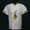 2014 popular design white genius chef uniform design white