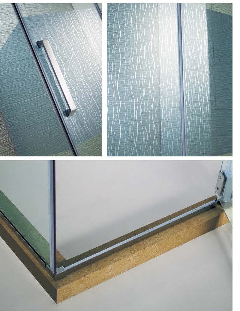 (KK3529)Foshan SS304 Rectangle Glass Door Price Shower Glass