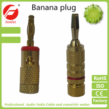 low price 3.5 mm banana plug with connector speaker wire connectors