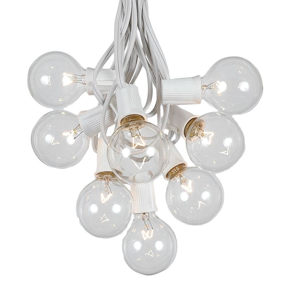 Get Quotations · G50 Patio String Lights With 25 Clear Globe Bulbs U2013  Outdoor String Lights U2013 Market Bistro