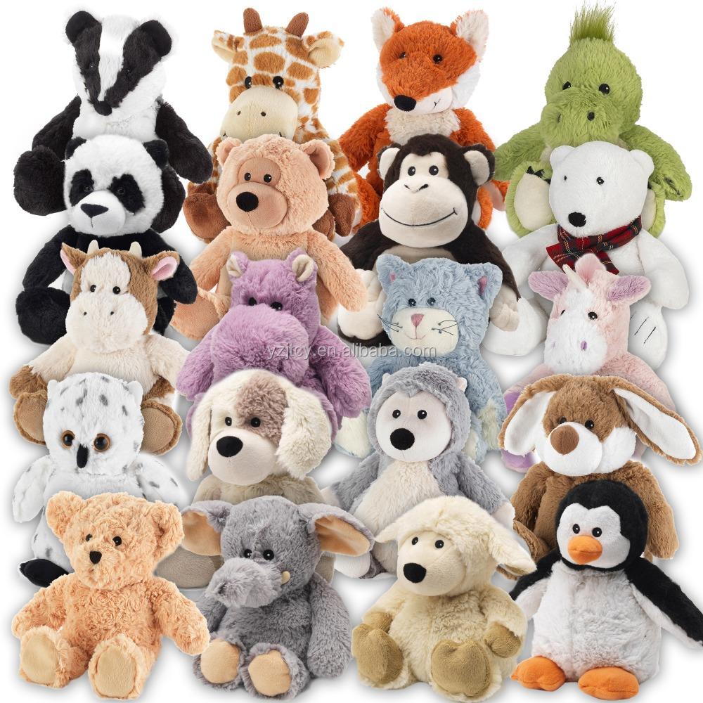 थोक आरामदायक माक्रोवेव जानवरों आलीशान भरवां नरम heatable खिलौना/भरवां microwavable आलीशान खिलौना