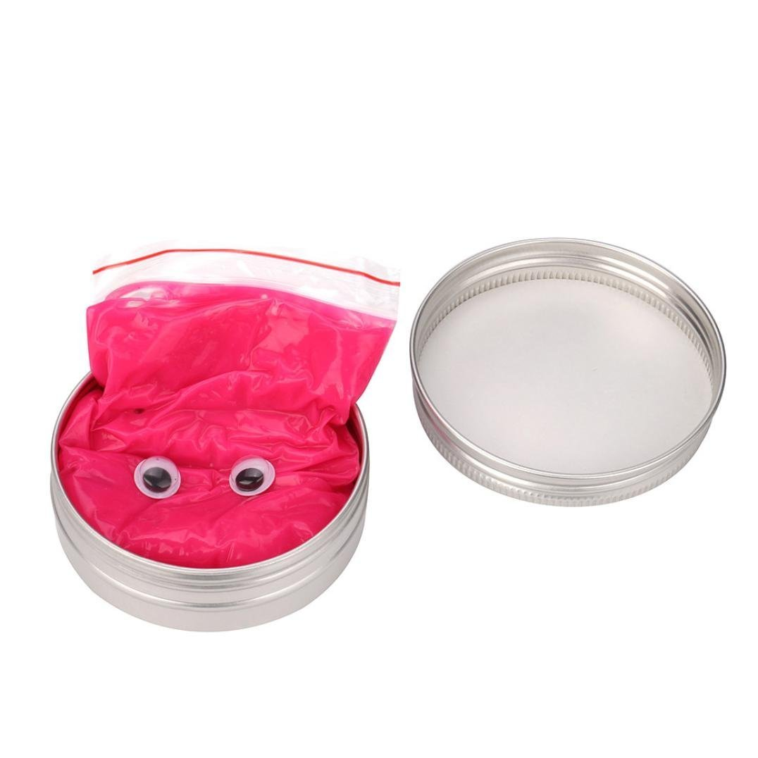 Classic DIY Luminous Rubber Mud,No Borax, Glow in the Dark Bounce Slime Kit,GBell Stress Relief Toy (Hot Pink)