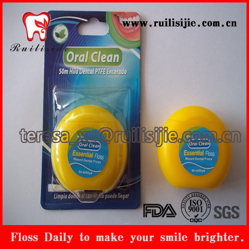 Biodegradable Floss Natural Silk thread/Bamboo Charcoal yarn/Nylon thread Dental Floss 50meters bee wax dental flosser