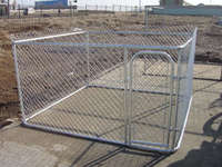 Heavy duty steel metal hot dip galvanized chain link dog pen