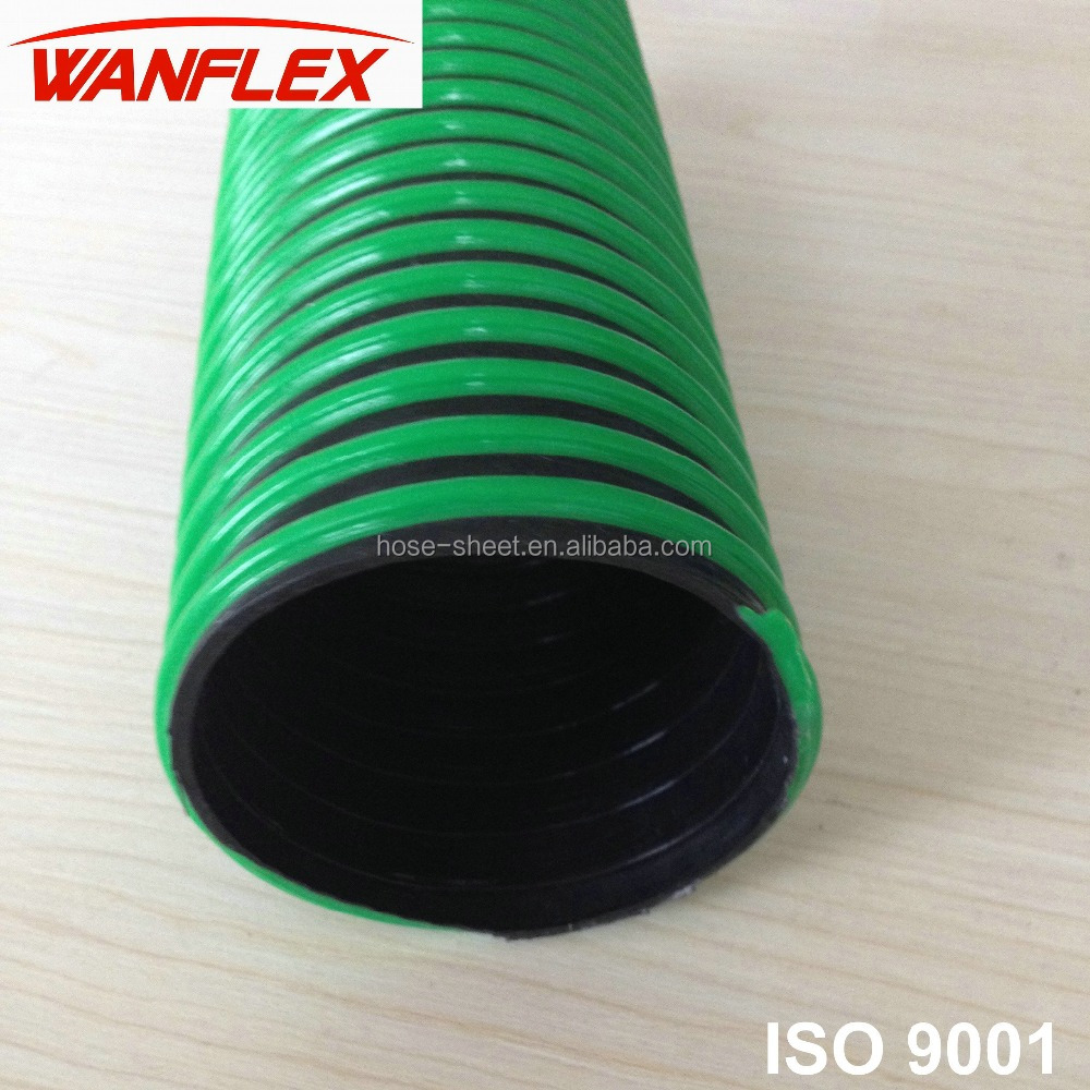 Anti crush rigid PVC spiral suction pipe