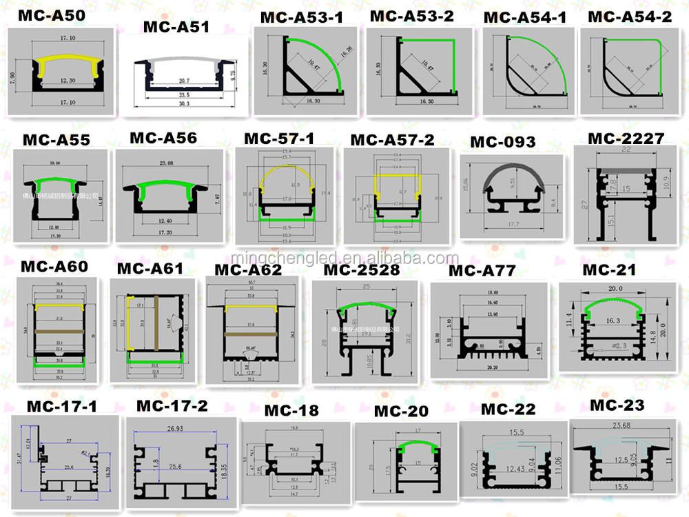 Led 알루미늄 압출 확산 커버 빛 주택 액세서리 알루미늄 프로파일 상품 Id 60494510345