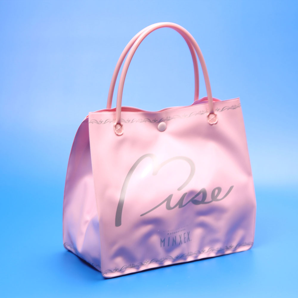 Wholesale custom ladies pvc shopping bag handbag