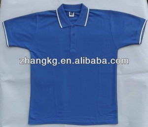blue with white tipping polo,TC polo