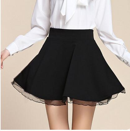 440d7f57a0 Black Short A Line Skirt - Redskirtz