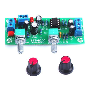 DC 12V-24V Low-pass Filter NE5532 Bass Tone Subwoofer Pre-Amplifier Preamp Board