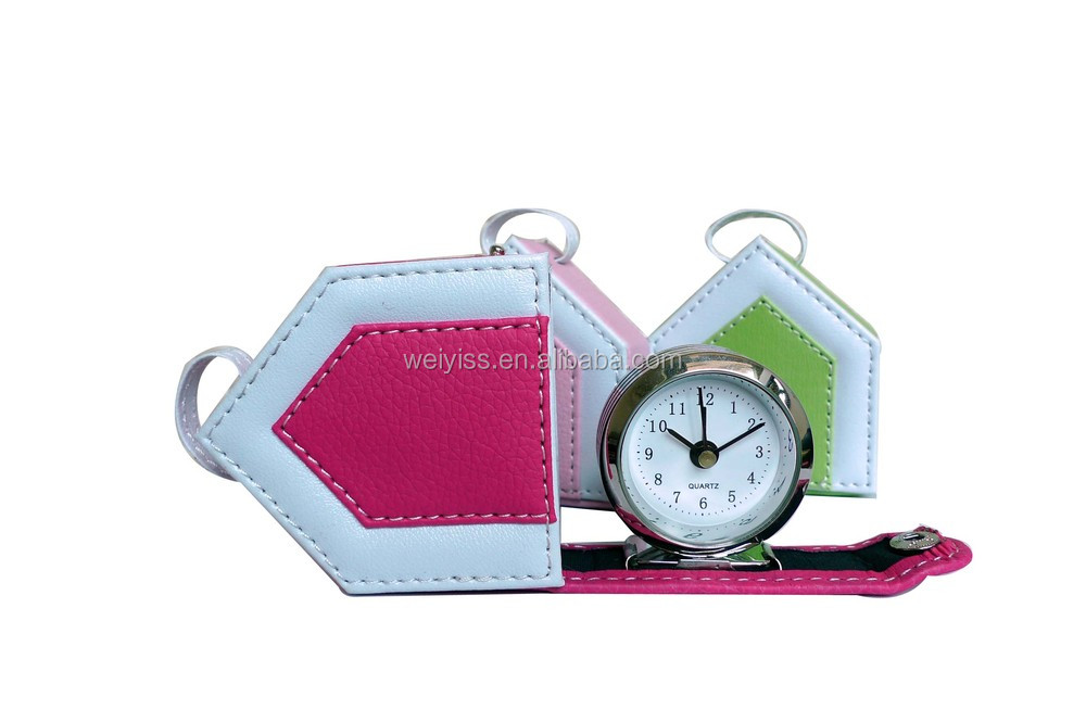 Customized leather alarm clock for promotional gift leather alarm clock manufacturers