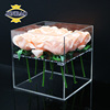 JINBAO Hot sale high quality waterproof clear acrylic flower box customized size acrylic rose box