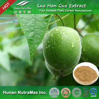 100% Natural and Pure Luo Han Guo Extract Powder Mogroside V 7%, 60% with Best Flavor