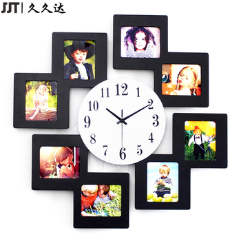 Bulk Family Mdf Wood 8 Photo Frame Wall Clocks - Buy Wood Frame Wall ...