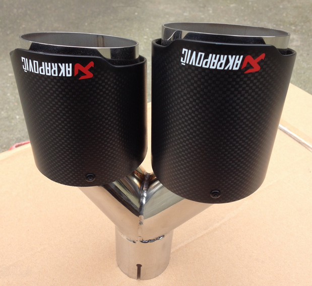 exhaust tip akrapovic carbon fiber exhaust pipe