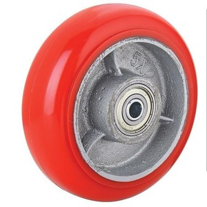 100x35mm PU wheel industrial PU caster wheel, 80mm wheel