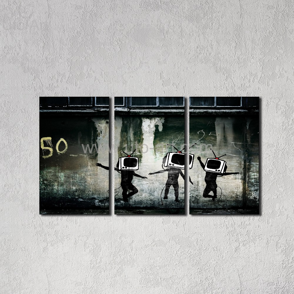 Acquista Garanzia 3 Pezzi Banksy Wall Panel Painting Digital Picture