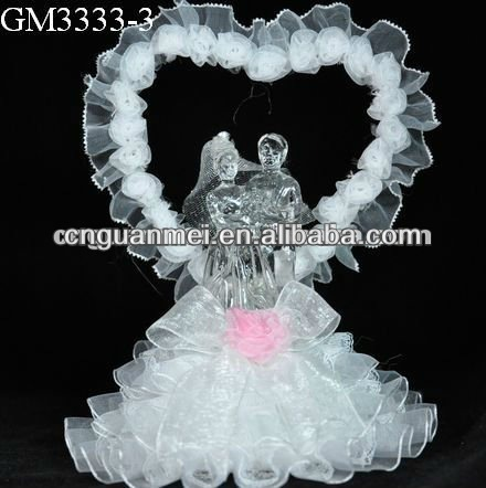 Wholesale heart-shaped LED wedding bride and groom gift