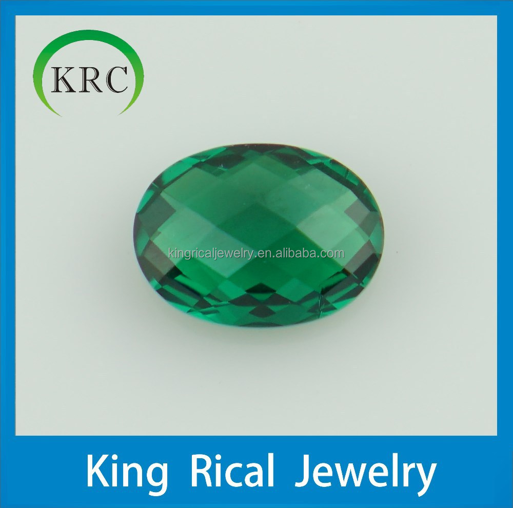 Customize Emerald Nano Gems Oval Faceted Cut Loose Gems