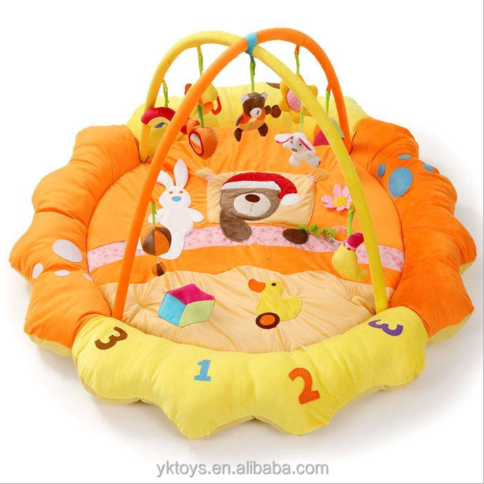 Popular plush baby folding play mat cheap baby play mats