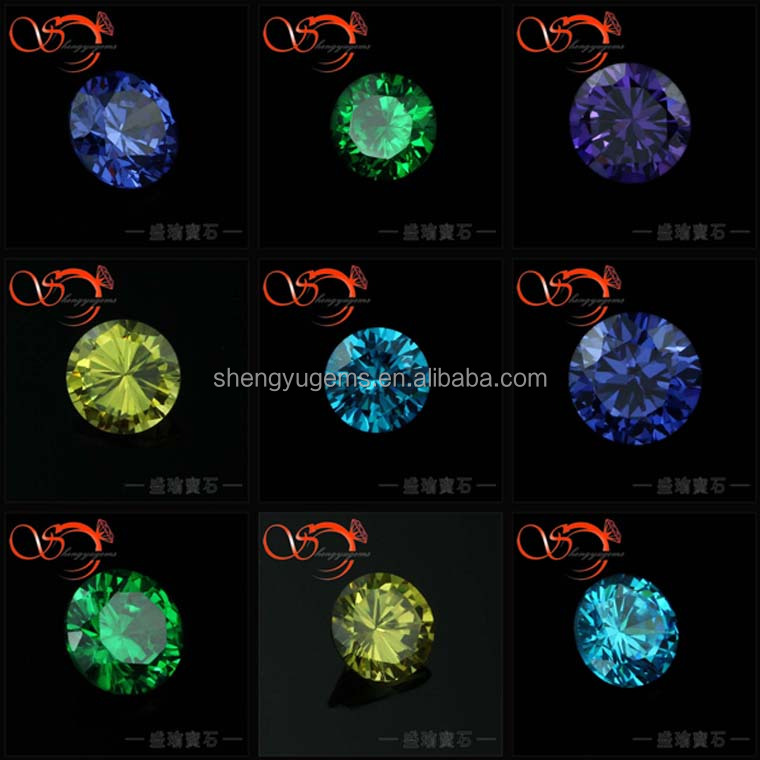 Different colors Profession cutting Round CZ stone