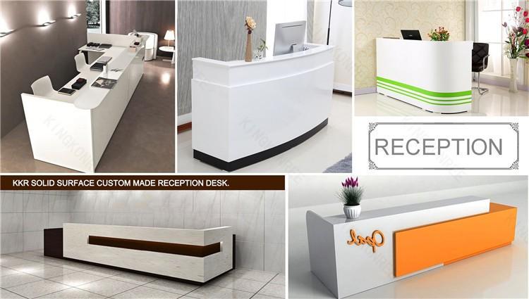 Solid surface beauty salon reception desks buy salon for Solid salon