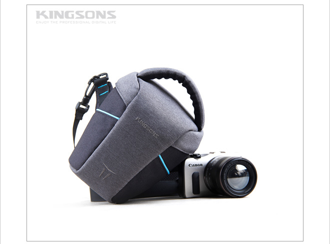 Soft frosted fabric dslr camera bag