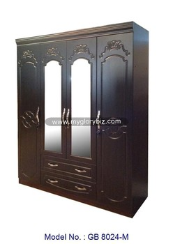 Bon Big 4 Doors Wooden Wardrobe With Mirror In MDF Bedroom Furniture, Bedroom  Cupboards Design Wardrobes