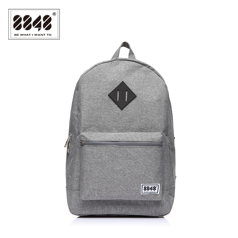Grey School Bags Backpack With Custom Logo Travel Designer Daily Bags S15010-10