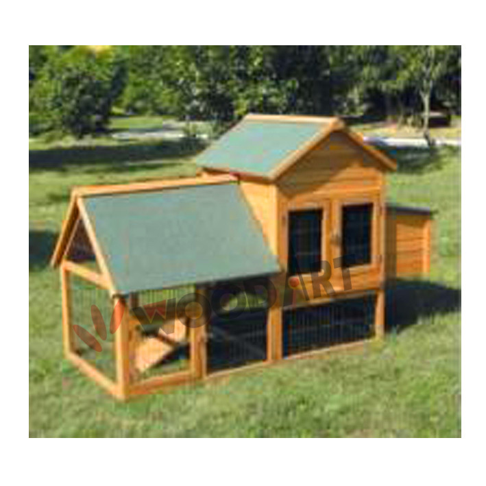 Wooden easy clean large wooden chicken coop with nesting box