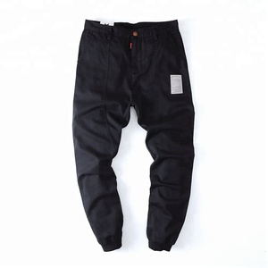 100% Cotton Twill Splice Custom Logo Casual Pants