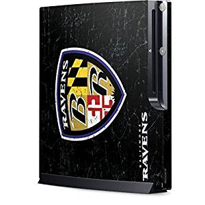 NFL Baltimore Ravens Playstation 3 & PS3 Slim Skin - Baltimore Ravens - Alternate Distressed Vinyl Decal Skin For Your Playstation 3 & PS3 Slim