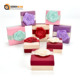 Luxury Crystal Jewelry Packing Box Set Cheap Cardboard Slide Jewelry Box With Ribbon