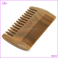 Comb wood Comb Anti-Static Handmade Pockets Mustache Two Sides Combs Hair Brush