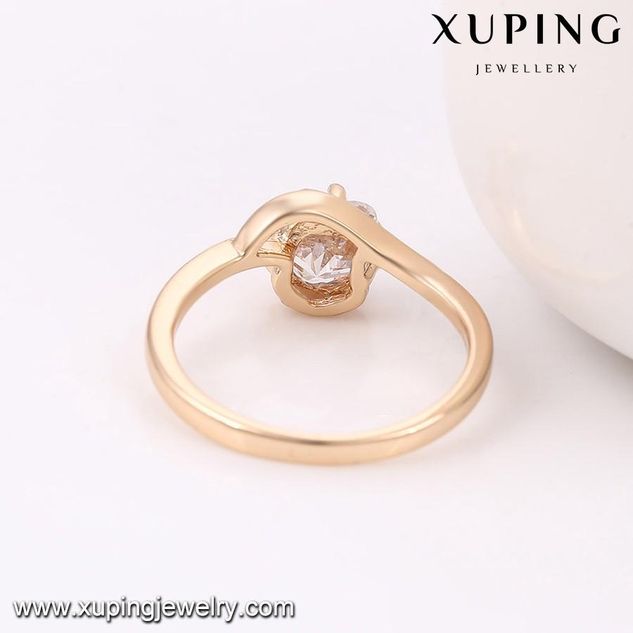 13894 18k Gold Ladies Fashion Jewelry 18k Gold Asian Wedding Rings