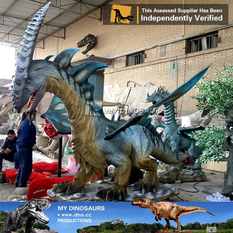 MY Dino-C061 Shopping mall artificial alive dragon statue
