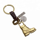 Vintage Bronze Boots Pendant Key chains Holder women Leather Keyring Keychain For Car Fashion Men Jewelry Free shipping
