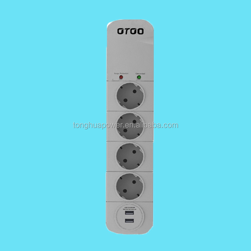 high quality germany 4 socket electrical outlet power socket with usb double schuko socket with 2 usb charging ports