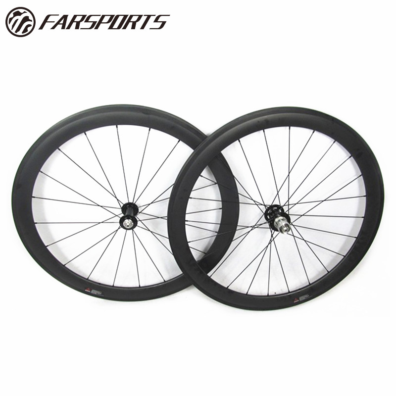 High end Far Sports Carbon bicycle wheels clincher, 50mm deep 25mm wide full carbon bike wheel set with DT hub 240S top quality
